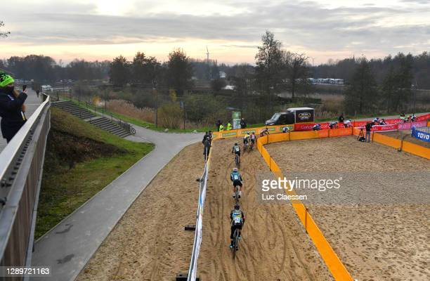 Thibau Nys of Belgium and Team Telenet - Baloise Lions / Curtis White of The United States and Team Cannondale P/B Cyclocrossworld / Nicolas Cleppe...