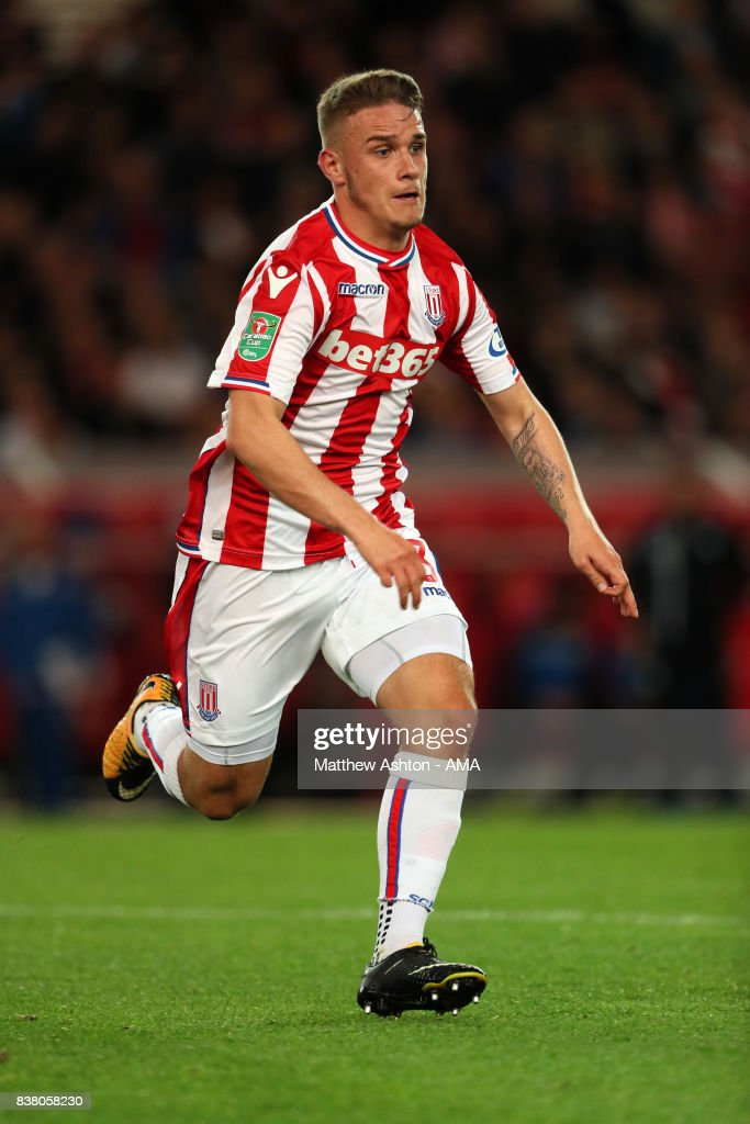 Thibaud Verlinden of Stoke Cityduring the Carabao Cup Second Round match between Stoke City and Rochdale at Bet365 Stadium on August 23, 2017 in Stoke on Trent, England.