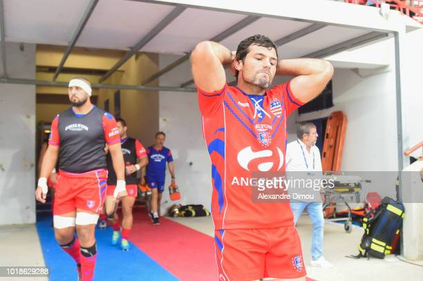 Thibauld Suchier of Beziers during the French Pro D2 match between Beziers and Soyaux Angouleme on August 17 2018 in Beziers France