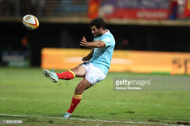 Thibauld Suchier of Perpignan during the Pro D2 match between Perpignan and Beziers on August 22 2019 in Perpignan France