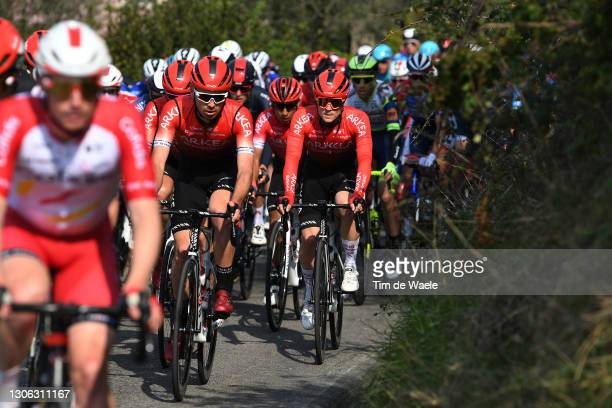 Thibault Guernalec of France & Thomas Boudat of France and Team Arkea - Samsic during the 56th Tirreno-Adriatico 2021, Stage 1 a 156km stage from...
