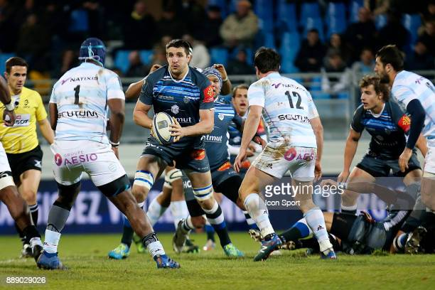 Thibault Lassalle of Castres during the European Champions Cup match between Castres and Racing 92 on December 9 2017 in Castres France