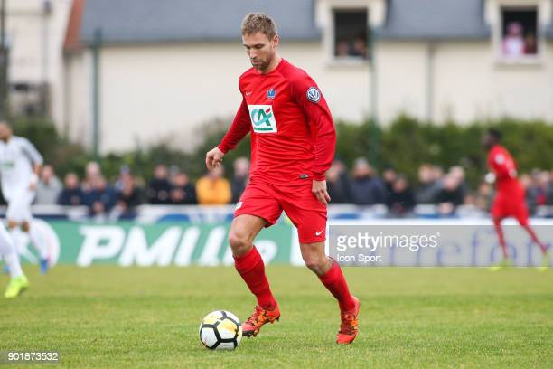 Thibault Sinquin of Concarneau during the french National Cup match between Houilles and Concarneau on January 6 2018 in Houilles France