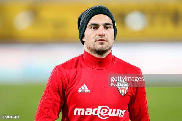 Thibault Vialla of Ajaccio during the Ligue 2 match between AS Nancy and AC Ajaccio on November 17 2017 in Nancy France
