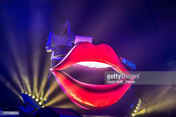Thibaut Berland from Breakbot performs at We Love Green Festival at Parc de Bagatelle on September 16 2012 in Paris France