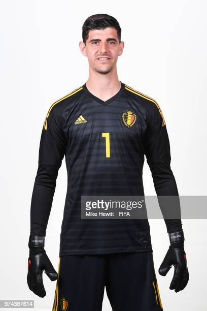 Thibaut Cortois of Belgium poses for a portrait during the official FIFA World Cup 2018 portrait session at the Moscow Country Club on June 14 2018...