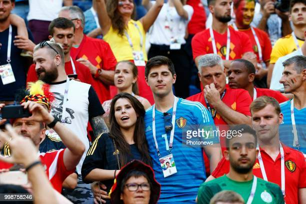 Thibaut Courtois family during the FIFA 2018 World Cup Russia Playoff for third place match between Belgium and England at the Saint Petersburg...
