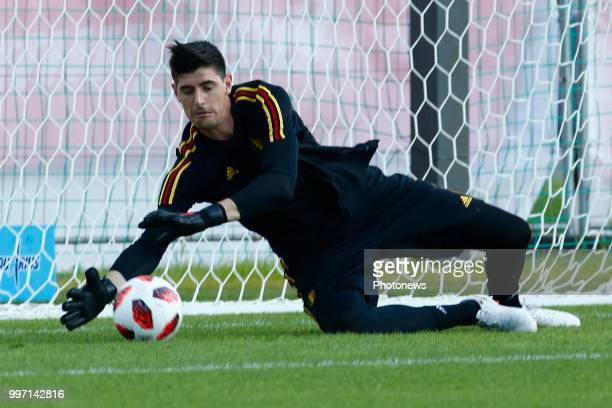 Thibaut Courtois goalkeeper of Belgium during a training session as part of the preparation prior to the FIFA 2018 World Cup Russia Playoff for third...