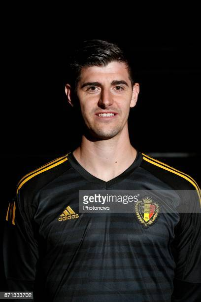 Thibaut Courtois goalkeeper of Belgium Official team picture during the photoshoot of the Red Devils at the national training center on November 07...