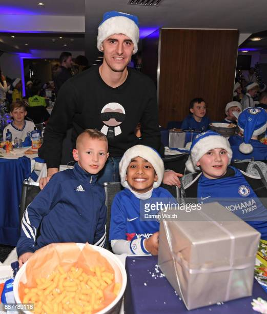 Thibaut Courtois of Chelsea at the Chelsea FC kids Christmas party December 7 2017 in London England