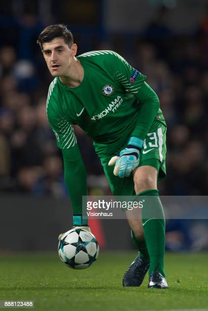 Thibaut Courtois of Chelsea during the UEFA Champions League group C match between Chelsea FC and Atletico Madrid at Stamford Bridge on December 5...