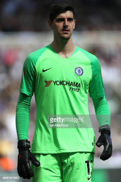 Thibaut Courtois of Chelsea is seen during the Premier League match between Newcastle United and Chelsea at St James Park on May 13 2018 in Newcastle...