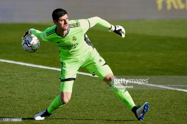 Thibaut Courtois of Real Madrid during the La Liga match between Real Madrid and Valencia CF played at Alfredo Di Stefano Stadium on February 14,...