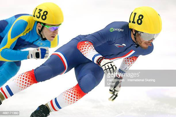 Thibaut Fauconnet of France in action during the Men's 500m RRHeats on day two of the ISU World Short Track Speed Skating Championships at the...