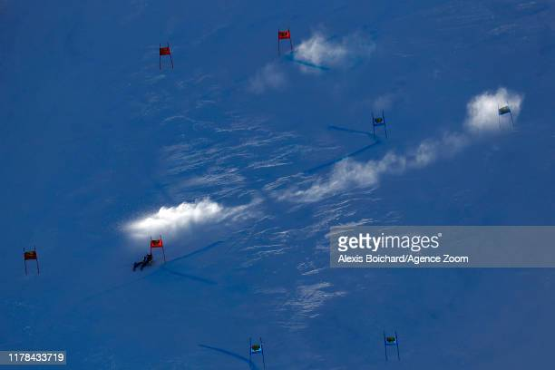 Thibaut Favrot of France competes during the Audi FIS Alpine Ski World Cup Men's Giant Slalom on October 27, 2019 in Soelden, Austria.