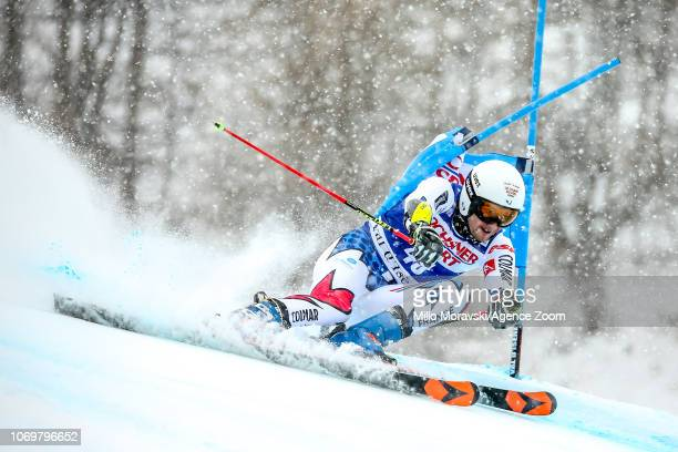 Thibaut Favrot of France during the Audi FIS Alpine Ski World Cup Men's Giant Slalom on December 8 2018 in Val d'Isère France