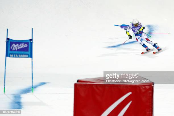 Thibaut Favrot of France takes 2nd place during the Audi FIS Alpine Ski World Cup Men's Parallel Giant Slalom on December 17, 2018 in Alta Badia...