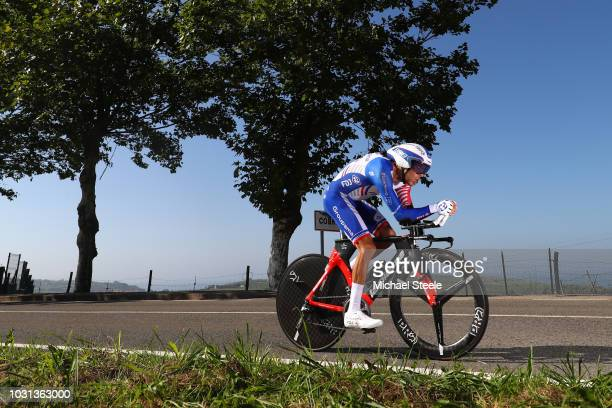 Thibaut Pinot of France and Team Groupama FDJ / Cobreces Village / Cantabrico sea / during the 73rd Tour of Spain 2018, Stage 16 a 32km Individual...