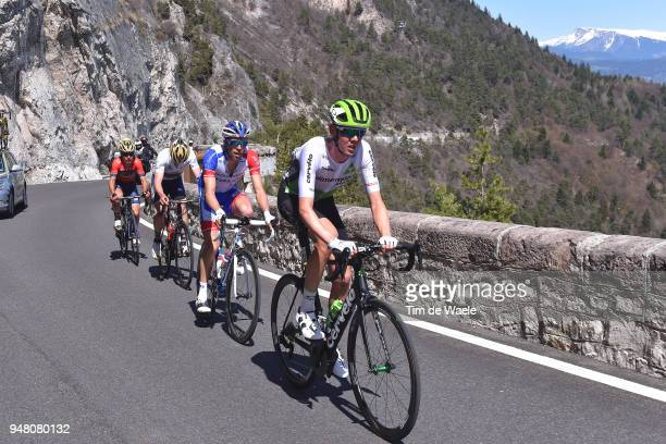Thibaut Pinot of France and Team Groupama FDJ / Domenico Pozzovivo of Italy and Team Bahrain Merida / Ben O Connor of Australia and Team Dimension...