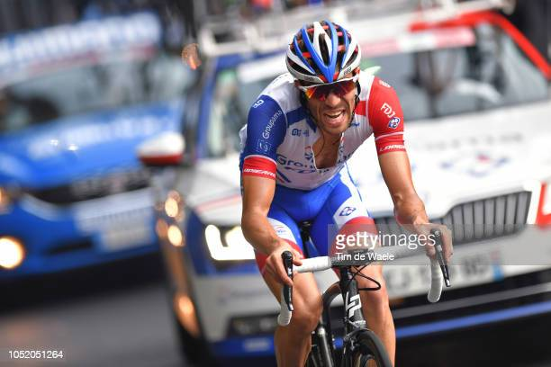 Thibaut Pinot of France and Team Groupama FDJ / during the 112th Il Lombardia 2018 a 241km race from Bergamo to Como / IL / on October 13 2018 in...
