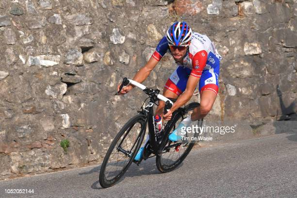 Thibaut Pinot of France and Team Groupama - FDJ / during the 112th Il Lombardia 2018 a 241km race from Bergamo to Como / IL / on October 13, 2018 in...