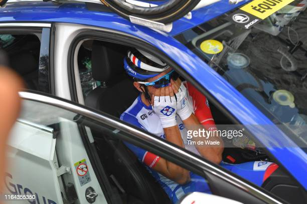Thibaut Pinot of France and Team Groupama-FDJ / Abandon/pull out of the race / Disappointment / Car / during the 106th Tour de France 2019, Stage 19...