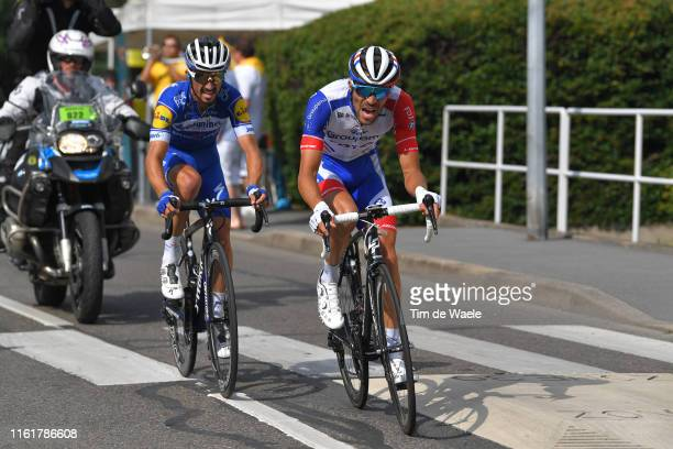 Thibaut Pinot of France and Team Groupama-FDJ / Julian Alaphilippe of France and Team Deceuninck - Quick-Step / during the 106th Tour de France 2019,...
