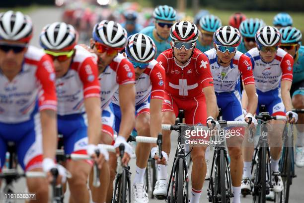 Thibaut Pinot of France and Team Groupama-FDJ / Sebastien Reichenbach of Switzerland and Team Groupama-FDJ / David Gaudu of France and Team...