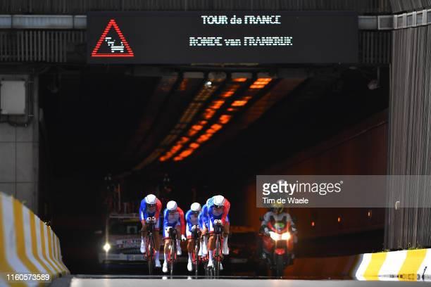 Thibaut Pinot of France and Team Groupama-FDJ / William Bonnet of France and Team Groupama-FDJ / David Gaudu of France and Team Groupama-FDJ / Stefan...