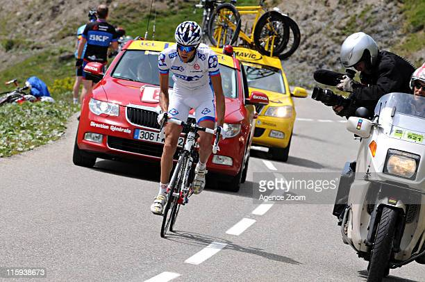 Thibaut Pinot of France races during Stage 7 of the Criterium du Dauphine on June 12 2011 between Pontcharra and La Toussuire France