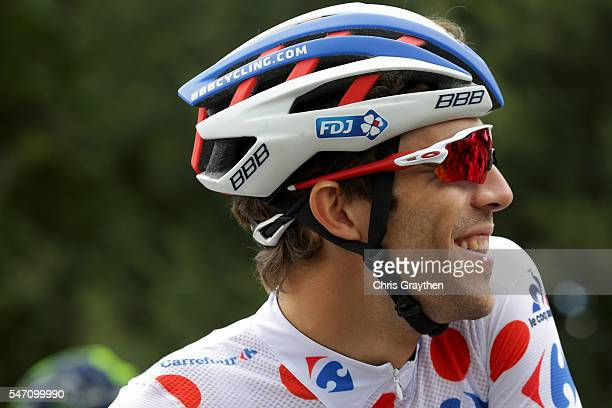 Thibaut Pinot of France riding for FDJ in the king of the mountains jersey prepares to star stage eleven of the 2016 Le Tour de France a 1625km stage...
