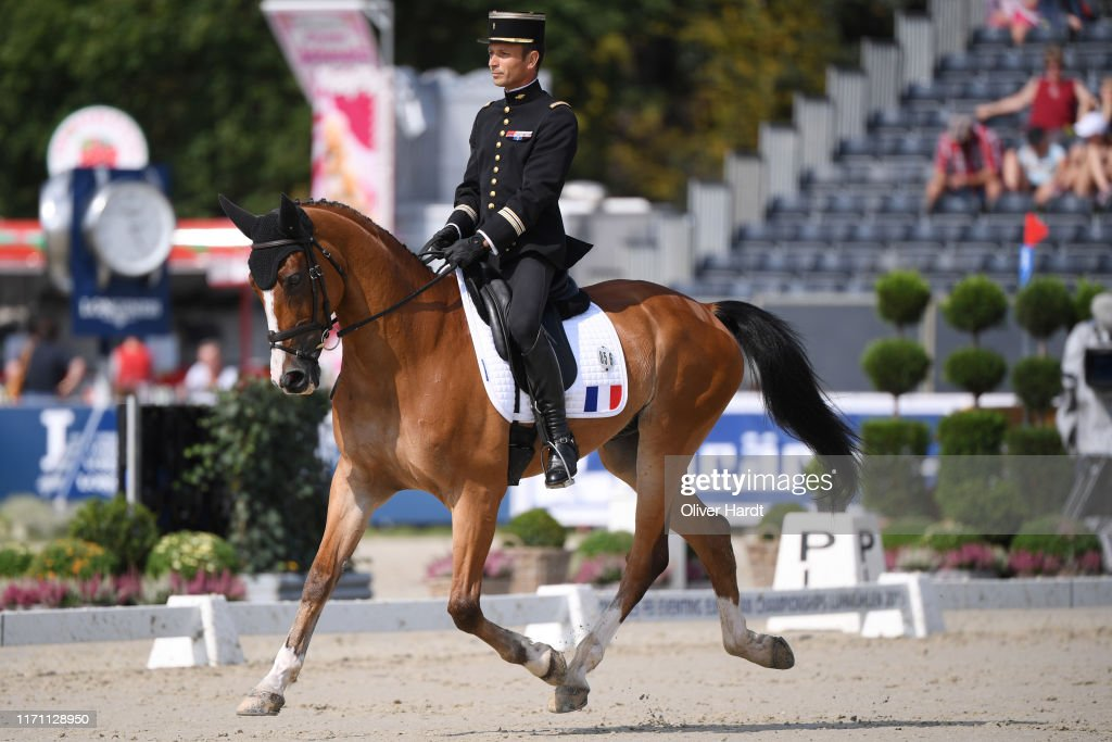 Thibaut Vallette of France riding Qing du Briot Brecey competes ...