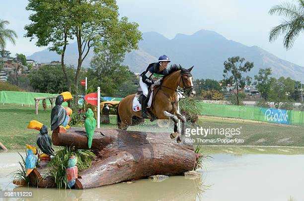 Thibaut Vallette of France riding Quig Du Briot during the Cross Country Eventing on Day 3 of the Rio 2016 Olympic Games at the Olympic Equestrian...