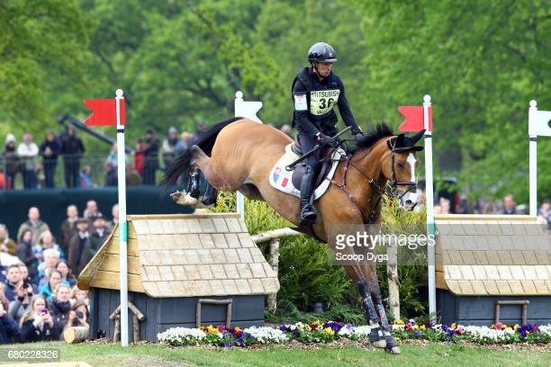 Thibaut Vallette riding QING DU BRIOT ENE HN during the cross country phase of the 2017 Badminton Horse Trials on May 6 2017 in Badminton...