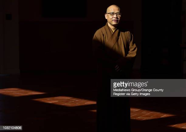 Thich Vien Ly abbot of the Chua Dieu Ngu Buddhist temple in Westminster on Thursday Jan 18 2018 The Buddhist temple is one of the largest in the area...