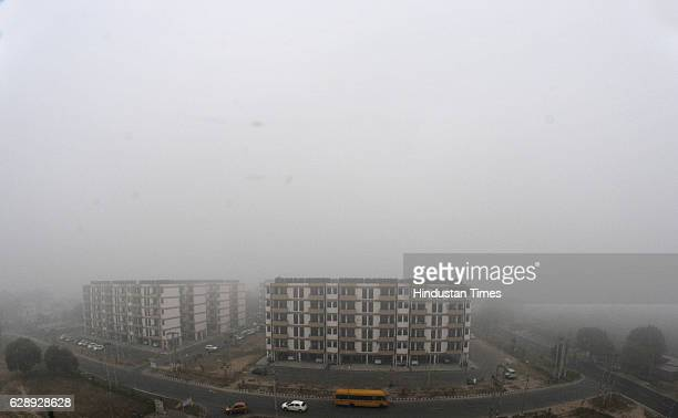 A thick blanket of fog enveloped the city on December 3 2016 in Chandigarh India Dense fog blanketed most parts of North India affecting normal life...