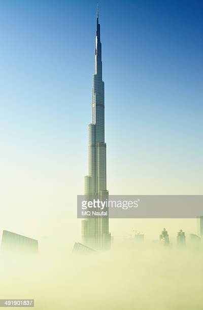 CONTENT] Thick fog in Dubai covered the bottom of the world's tallest tower Burj Khalifa