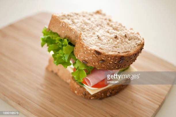 Dicke, Schinken-Salat-Sandwich