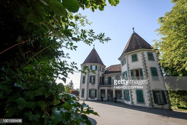 Thie general view shows the building which houses The Court of Arbitration for Sport in Lausanne on July 19 ahead of an appeal by AC Milan against a...