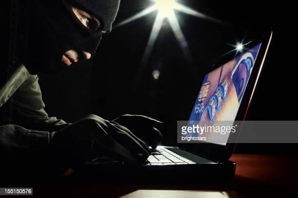 Dieb Zugriff auf einen laptop