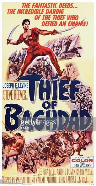 Thief of Bagdad Steve Reeves movie poster print