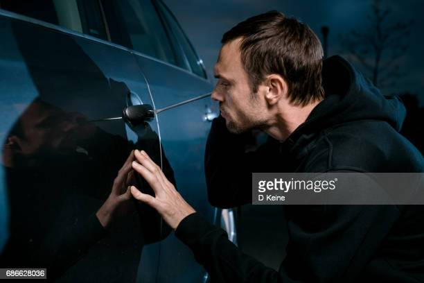 thief - car alarm stock photos and pictures