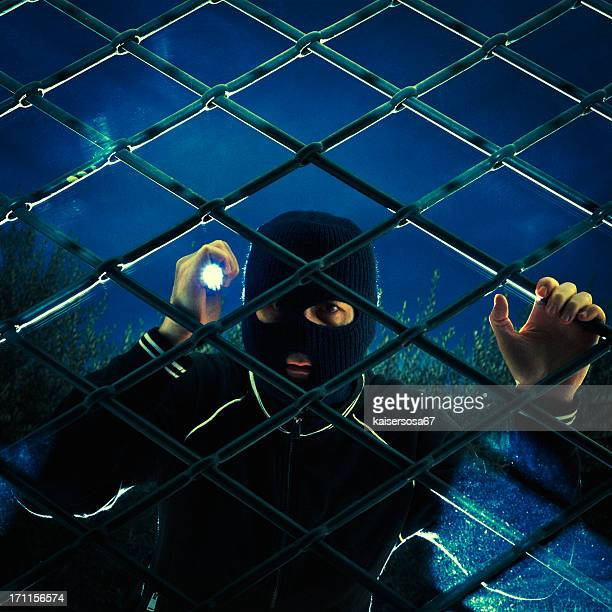 Thief spy through the window