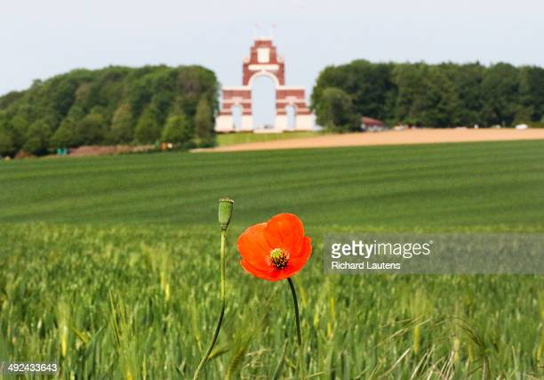 Thiepval France May 20 The Thiepval Monument is the largest British battle memorial in the world It has the names of over 72000 British and South...