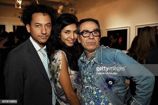 Thierry Alet Irma Bravo and Juan Puntes attend Private Viewing of Merce My Way By Mikhail Baryshnikov at 401 Projects on March 15 2008 in New York...