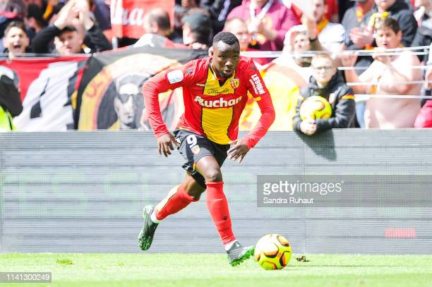Thierry Ambrose of Lens during the Ligue 2 match between Racing Club de Lens and Clermont Foot 63 at Stade BollaertDelelis on April 4 2019 in Lens...