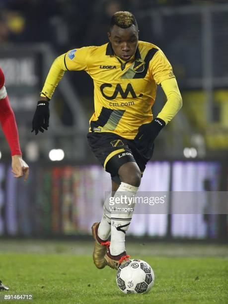 Thierry Ambrose of NAC Breda during the Dutch Eredivisie match between NAC Breda and FC Twente Enschede at the Rat Verlegh stadium on December 12...