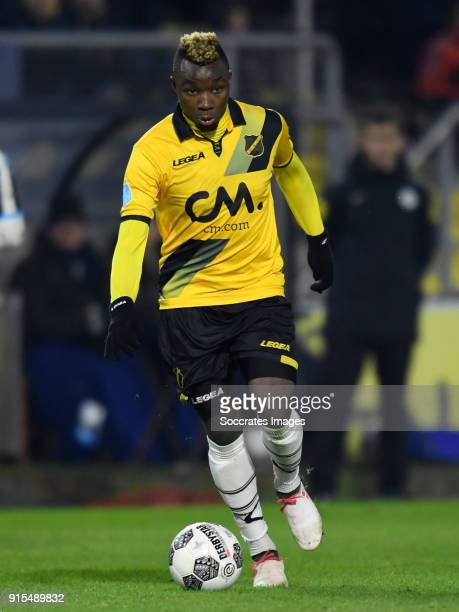 Thierry Ambrose of NAC Breda during the Dutch Eredivisie match between NAC Breda v Heracles Almelo at the Rat Verlegh Stadium on February 7 2018 in...