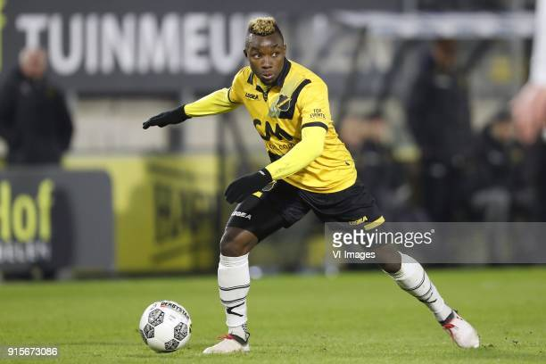 Thierry Ambrose of NAC Breda during the Dutch Eredivisie match between NAC Breda and Heracles Almelo at the Rat Verlegh stadium on February 07 2018...