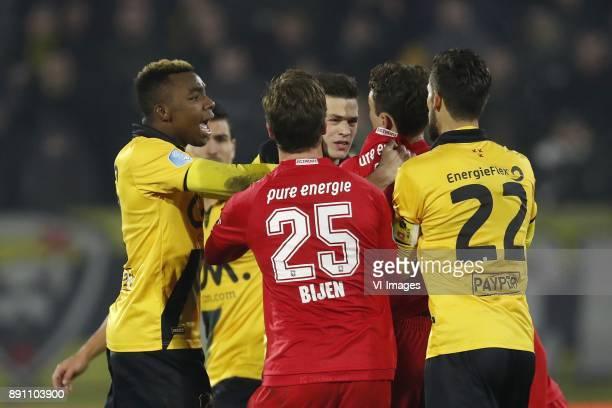 Thierry Ambrose of NAC Breda Gianluca Nijholt of NAC Breda Peet Bijen of FC Twente Bart Meijers of NAC Breda Thomas Lam of FC Twente Pablo Mari...